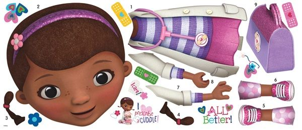 Doc Mcstuffins Giant Wall Decal