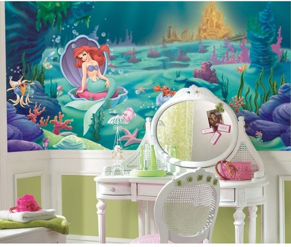The Little Mermaid Xl Spray And Stick Wallpaper Mural
