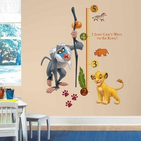 The Lion King Growth Chart Wall Decals - Standard