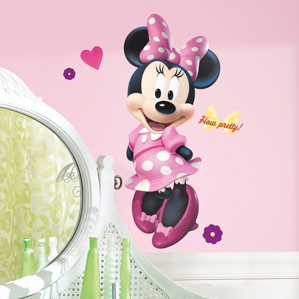 Minnie Mouse Bow-tique Giant Wall Decal