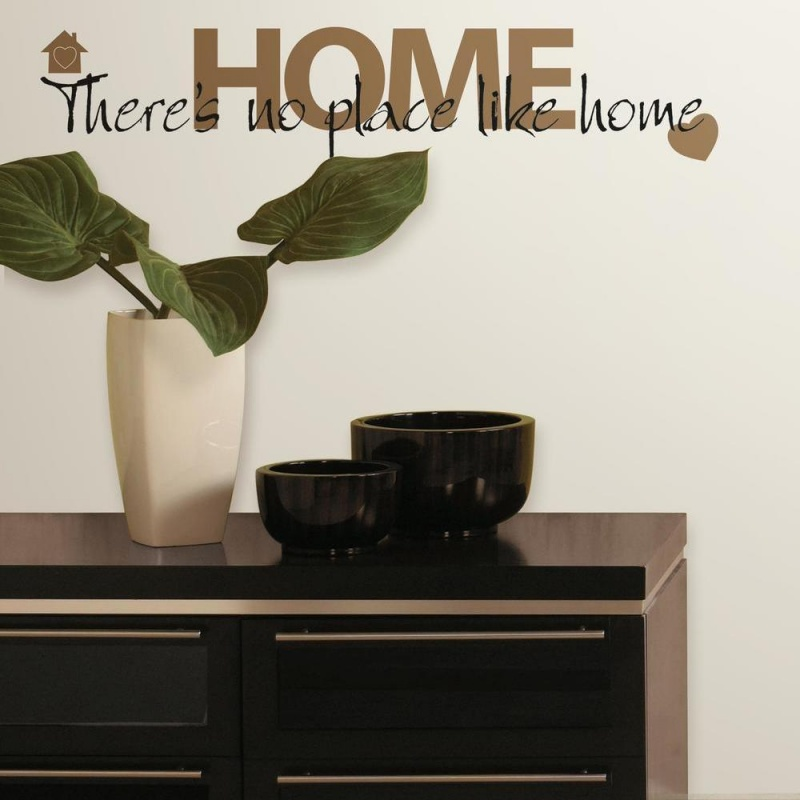 No Place Like Home Quote Wall Decal