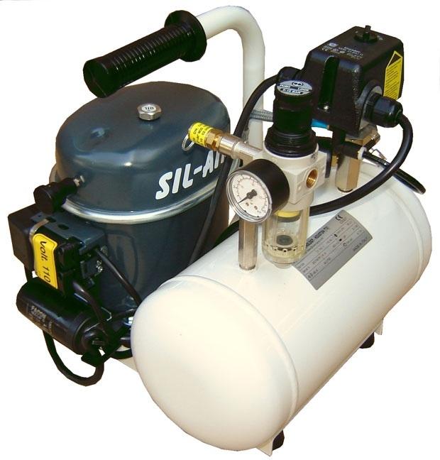 Silentaire Sil-Air 50-6 Silent Running Airbrush Compressor, Portable Air Compressor