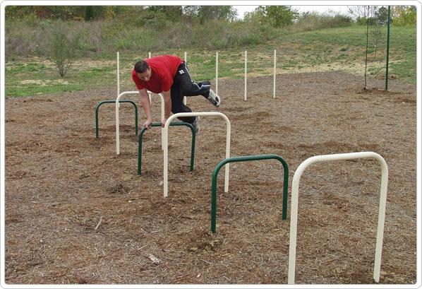 SportsPlay Over-Under Bars: Galvanized - Playground Equipment
