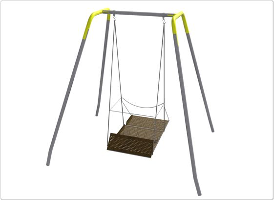 SportsPlay ADA Swing Platform: Frame, Fro Hanger, Adult, Permanent