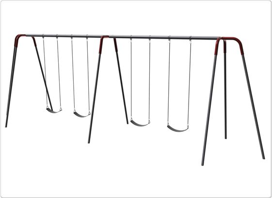 SportsPlay 10' Heavy Duty Modern Tripod Swing: 4 Seats - Playground Swing Set