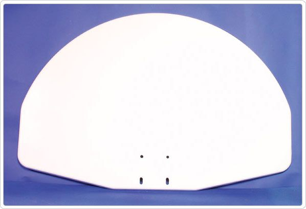 SportsPlay White Aluminum Fan Backboard - Basketball Backboard Equipment