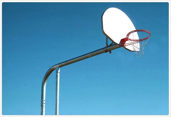 SportsPlay Super Seven Backstop: Acrylic Rectangle - Basketball Backboard Equipment