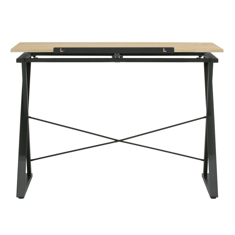 """Axiom Ii Drawing/drafting Table With 42"""" Wide Adjustable Top In Graphite Black/ashwood"""
