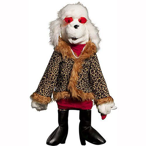 "28"" Poodle In Fur Coat"