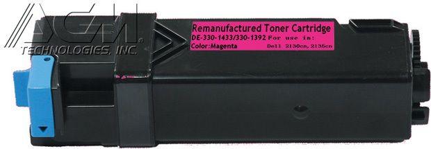 Dell OEM 3301392, 3301433 Compatible Toner Cartridge: Magenta, 2.5K Yield