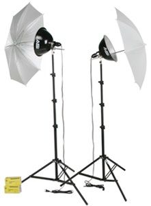 Smith-Victor KT500U/401430 2-Light 500 Total Watt Kit with Umbrellas