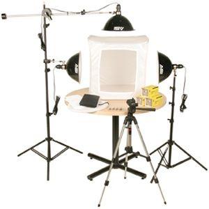 """Smith-Victor KLB-3/402059 Photoflood 1500-Watt 28"""" Light Tent Kit: 3-Lights"""