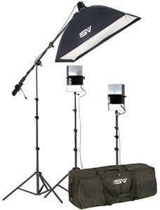 Smith-Victor SL260/401408 3-Light 1450-watt Softlight Studio Portrait Kit
