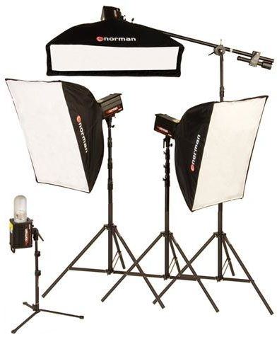 Norman MLKIT2000R/812941 Four Light Studio Three Softbox Kit with Built-In PocketWizard Receiver