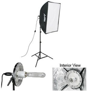 Smith-Victor 408079 1-Light Pro Softbox Light Kit: 1000 watt