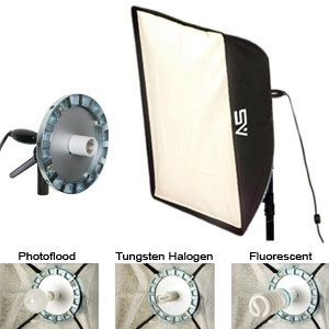 Smith-Victor 24 X 32 inch Combines SoftBox with SBL-1 Light: Model # SBL-2432