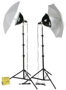 Smith-Victor KT1000U/401432 2-Light 1000 Total watt Kit with Umbrellas