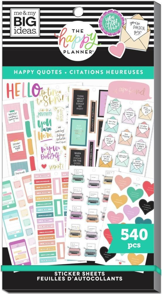 Value Pack Stickers - Happy & Positive Quotes