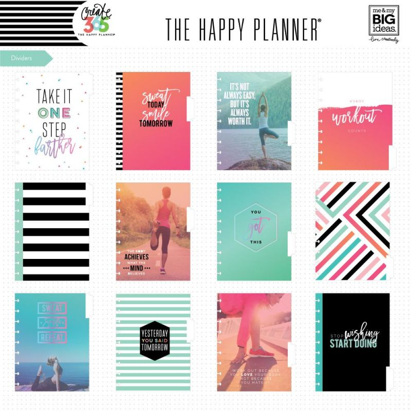 The Happy Planner® 12 Month Box Kit - Sweat Smile Repeat