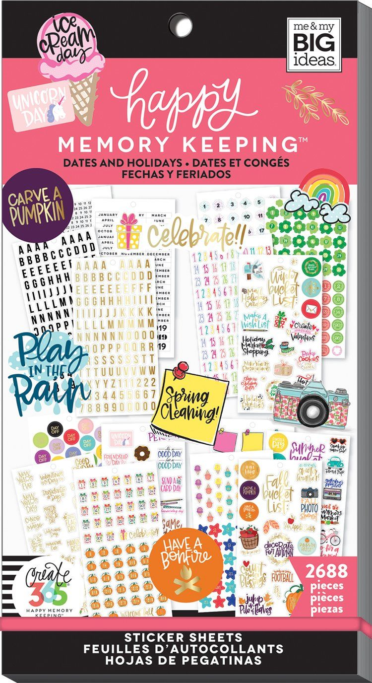 Happy Memory Keeping® Value Pack Stickers - Big - Dates & Holidays 2
