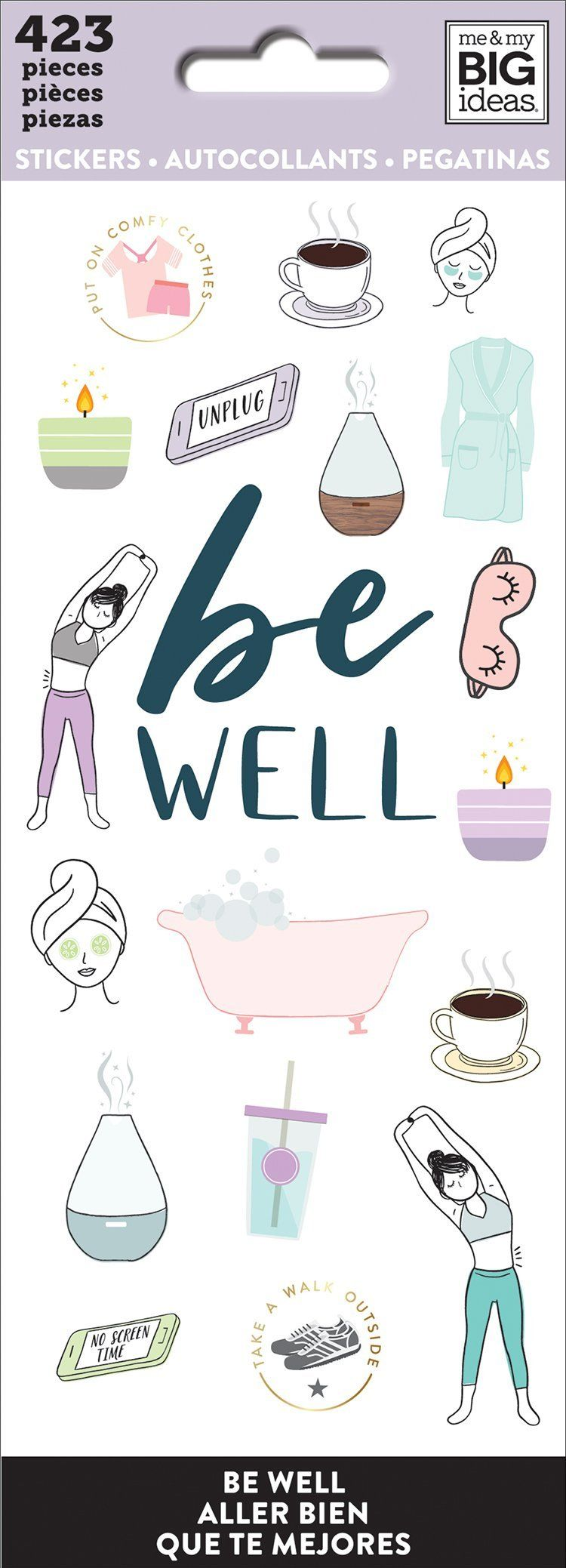 Petite Sticker Sheets - Be Well
