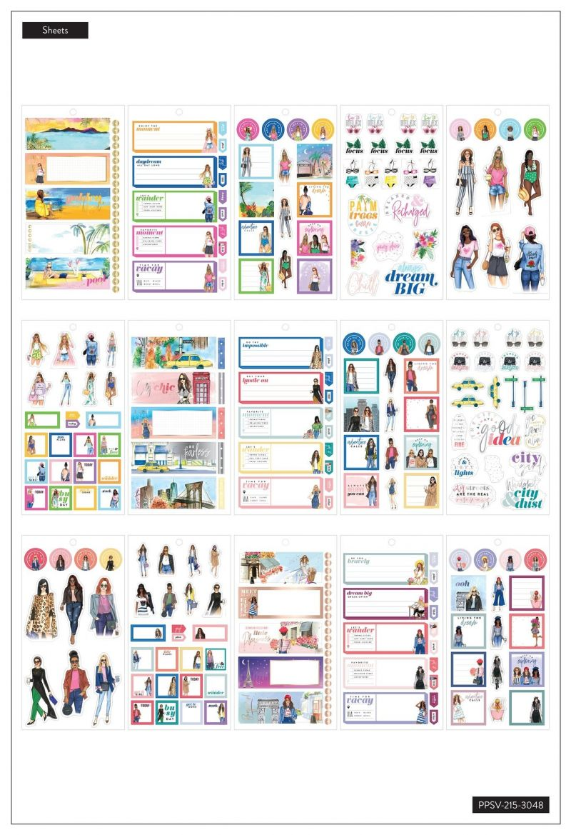 Value Pack Stickers - Rongrong - Travel - Mini