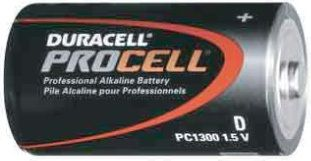 UPG Security Solutions Duracell/Procell D Alkaline Bulk: PC1300, 12/72