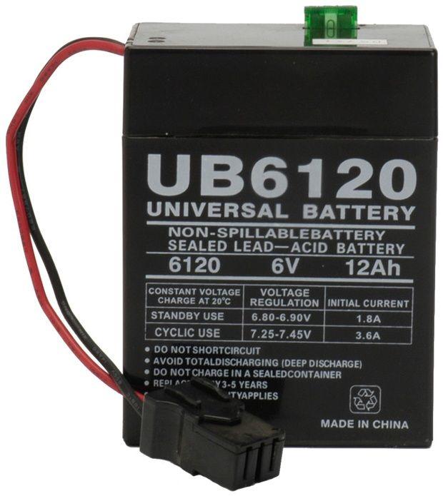 UPG Sealed Lead Acid AGM: UB6120 TOY, 12 AH, 6V