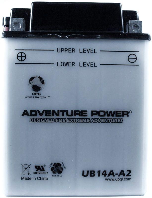 UPG Adventure Power Lead-Acid Conventional: UB14A-A2, 14 AH, 12V