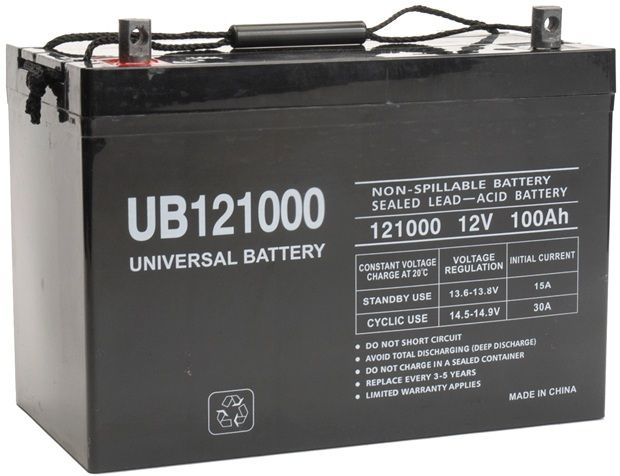UPG Sealed Lead Acid AGM: UB121000, 100 AH, 12V