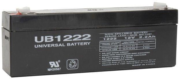 UPG Sealed Lead Acid AGM: UB1222, 2.2 AH, 12V