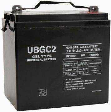 UPG Sealed Lead Acid Gel: UB-GC2 (Golf Cart) Gel, 200 AH, 6V