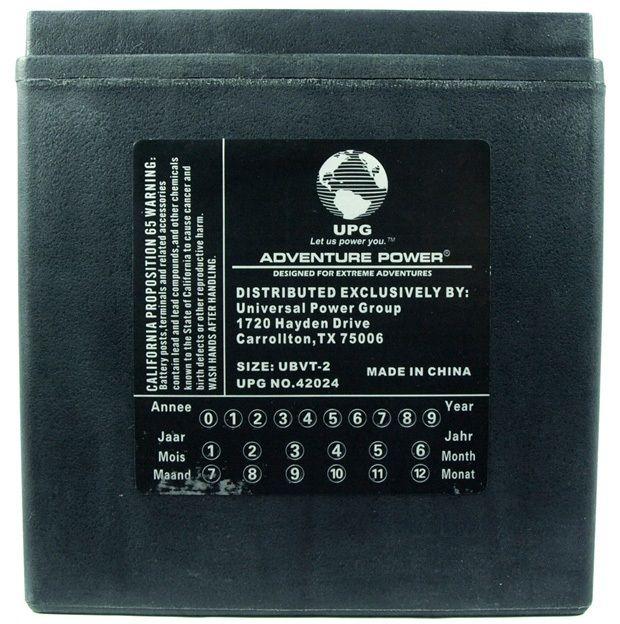 UPG Adventure Power Sealed Lead Acid: UBVT-2, 30 AH, 12V