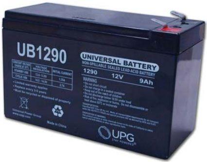 UPG Sealed Lead Acid AGM: UB1290F2, 9 AH, 12V
