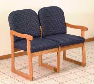 Wooden Mallet™ Prairie Two Seat Sofa: Sled Base