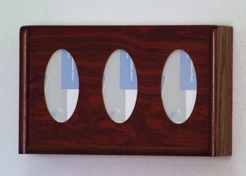 Wooden Mallet™ 3 Pocket Glove/Tissue Box Holder: Oval