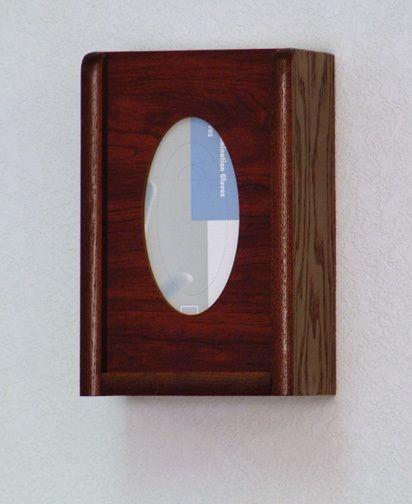 Wooden Mallet™ 1 Pocket Glove/Tissue Box Holder: Oval