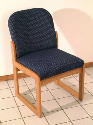 Wooden Mallet™ Prairie Armless Guest Chair: Sled Base