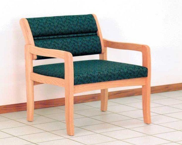 Wooden Mallet™ Dakota™ Valley Bariatric Guest Chair: Designer Fabrics, Standard Leg
