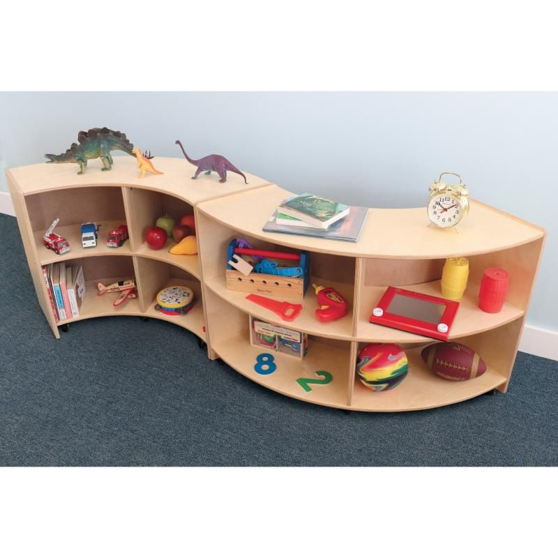 Curve In Mobile Storage Cabinet