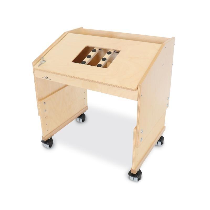 Mobile Adjustable Tablet Desk - Single