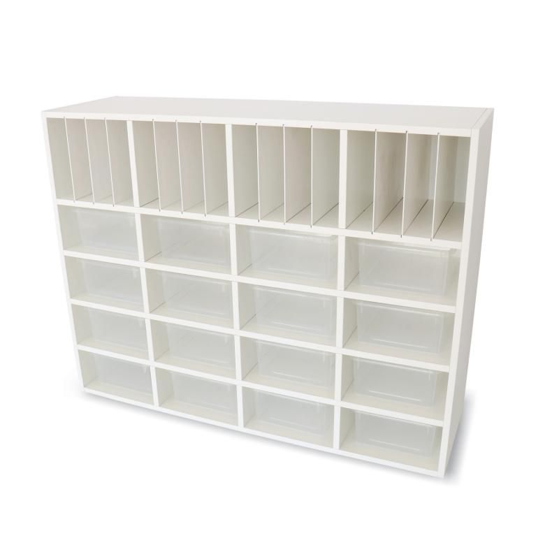 Whitney White Cubby Organizer Cabinet