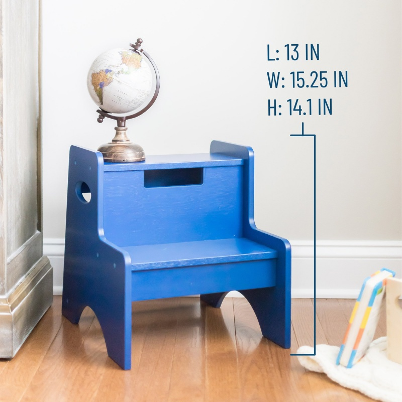 Two Step Stool - Navy Blue