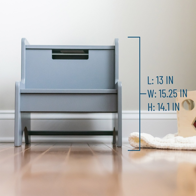Two Step Stool - Gray