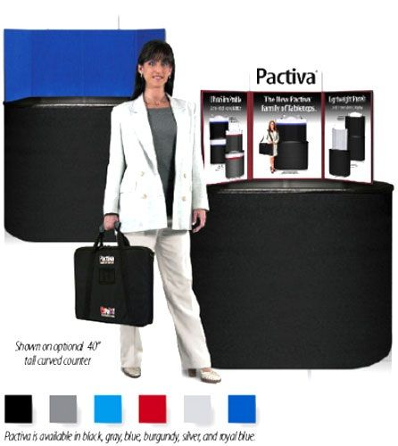 """Pactiva 3 Panel 18"""" Tall Tabletop: Black/Purple with Padded Bag"""