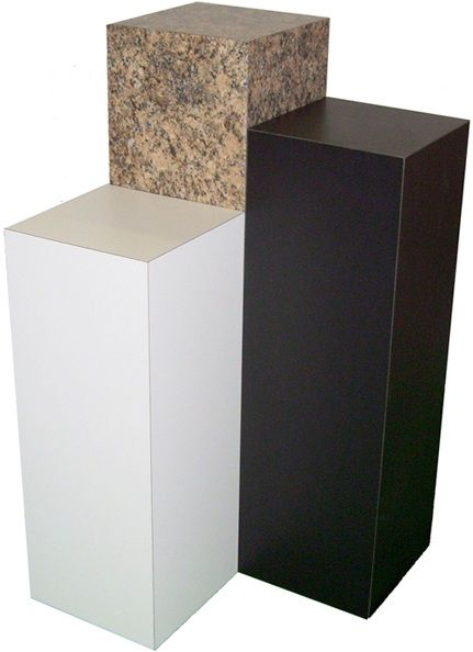 "Xylem Black Laminate Pedestal: 23"" x 23"" Base"