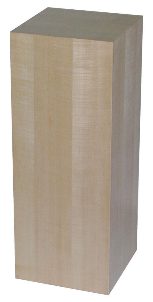 """Xylem Maple Wood Veneer Pedestal: 18"""" X 18"""" Size"""