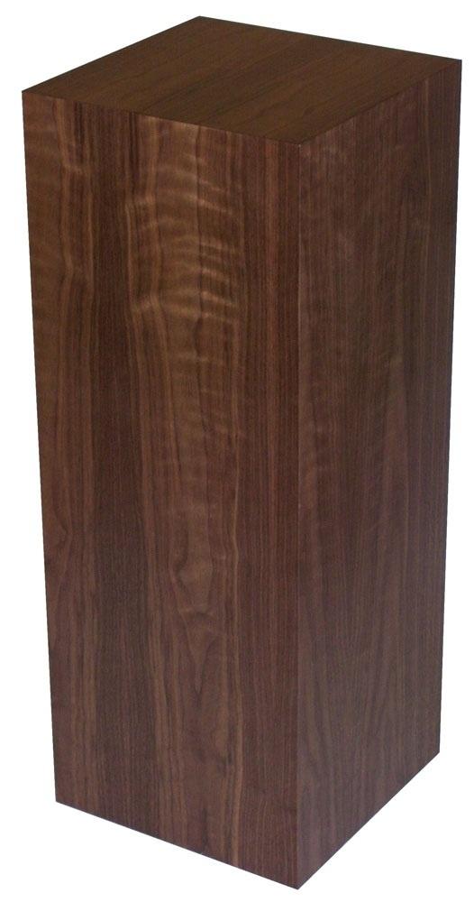 "Xylem Walnut Wood Veneer Pedestal: 23"" X 23"" Size"