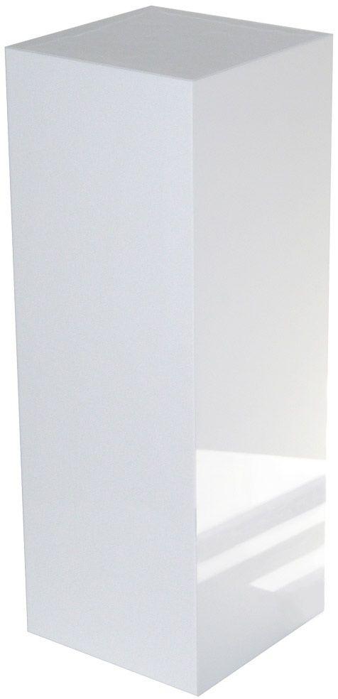 "Xylem White Gloss Acrylic Pedestal: Size 11-1/2"" x 11-1/2"""