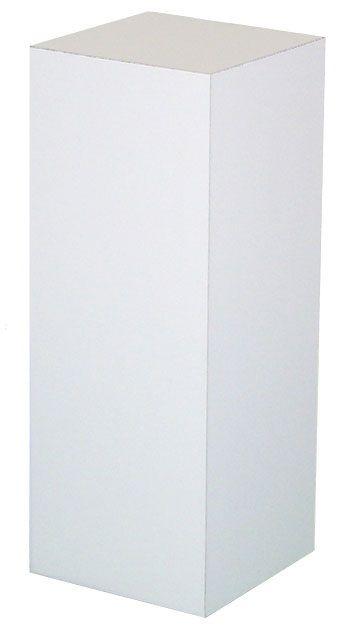 "Xylem White Laminate Pedestal: 36"" x 36"" Base, 12"" Height"
